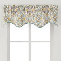 Ellis Curtains Folk Damask Window Valance - 50'' x 15''