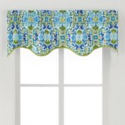 Ellis Curtains Folk Damask Window Valance - 50'' x 15''
