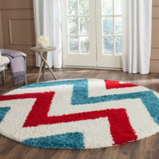 Safavieh Kids Chevron Stripe Shag Rug