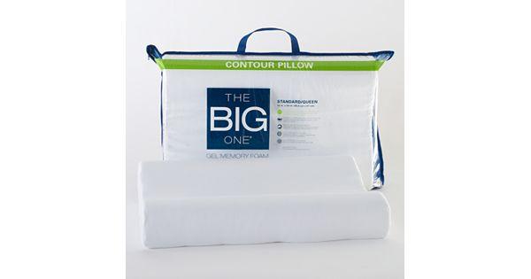 the big one gel memory foam contour pillow. Black Bedroom Furniture Sets. Home Design Ideas