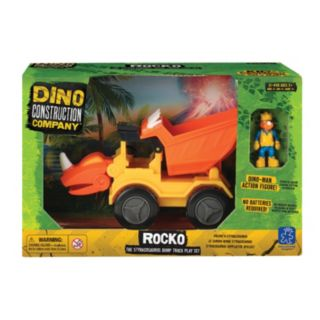 Educational Insights Dino Construction Company Rocko The Styracousauraus Dump Truck