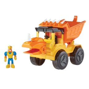 Educational Insights Dino Construction Company Rocko The Styracousauraus Dump Truck