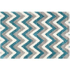 Safavieh Kids Jagged Edge Chevron Shag Rug