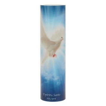 The Saints Collection Holy Spirit Flameless LED Prayer Candle