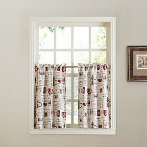 Top of the Window Espresso 2-pack Tier Curtains