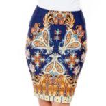 White Mark Print Pencil Skirt - Women's