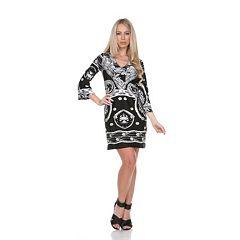 White Mark Print Shift Dress - Women's