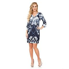 White Mark Print Shift Dress - Women's
