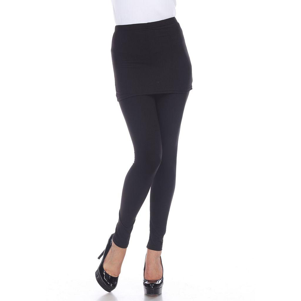 White Mark Skirted Leggings - Women's