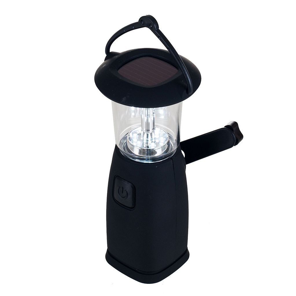 Stalwart 6-LED Solar & Dynamo-Powered Camping Lantern