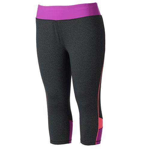 7d13794276 Plus Size Tek Gear® Shapewear Colorblock Capri Yoga Leggings