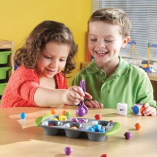 Learning Resources Mini Muffin Match Up Math Activity Set
