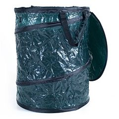 Stalwart Collapsible Camp Garbage Can with Lid