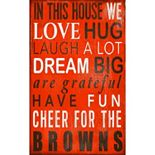 Cleveland Browns In This House Wall Art