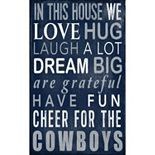Dallas Cowboys In This House Wall Art