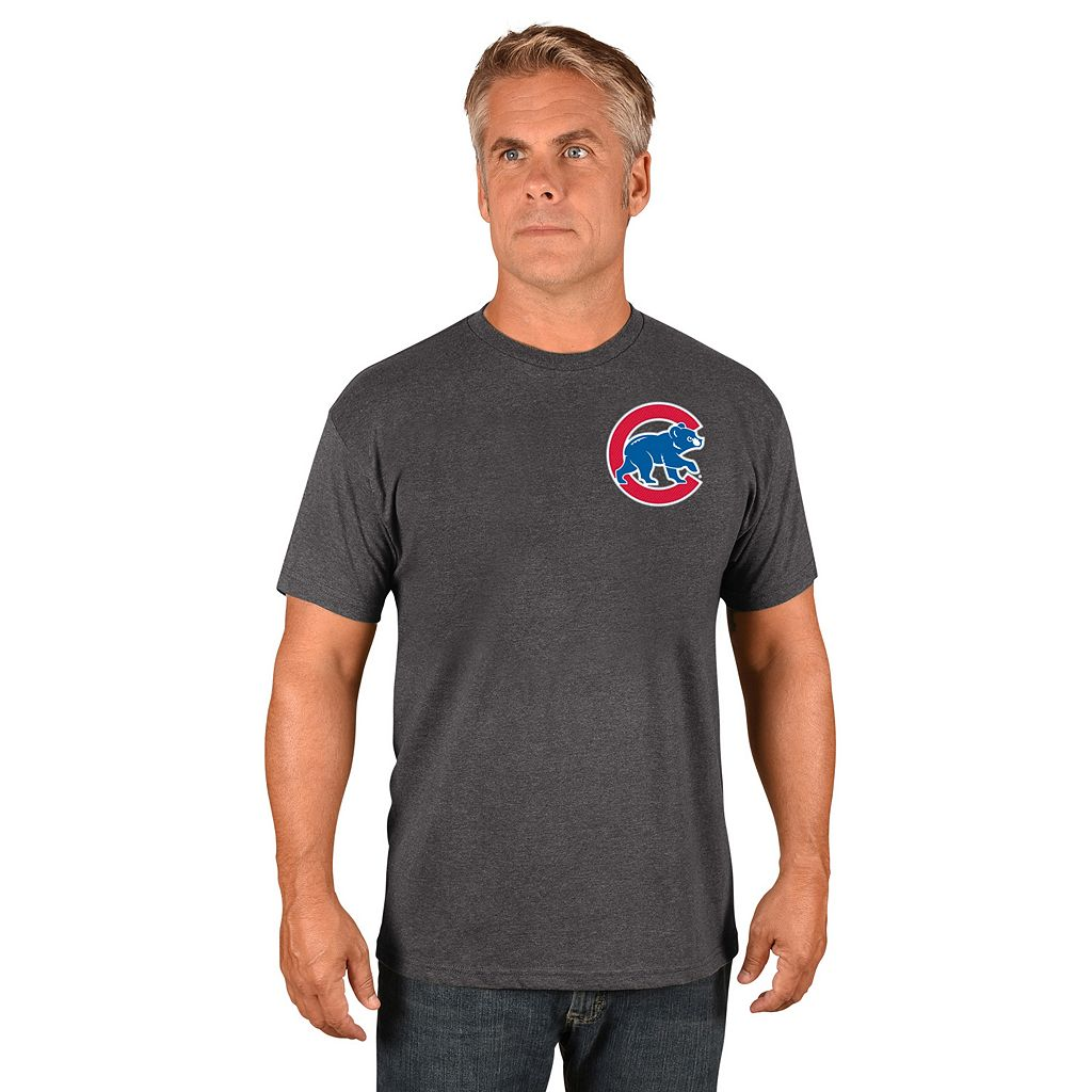 Men's Majestic Chicago Cubs Kyle Schwarber Name and Number Tee