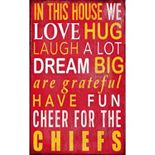 Kansas City Chiefs In This House Wall Art