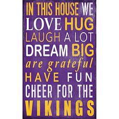 Minnesota Vikings In This House Wall Art