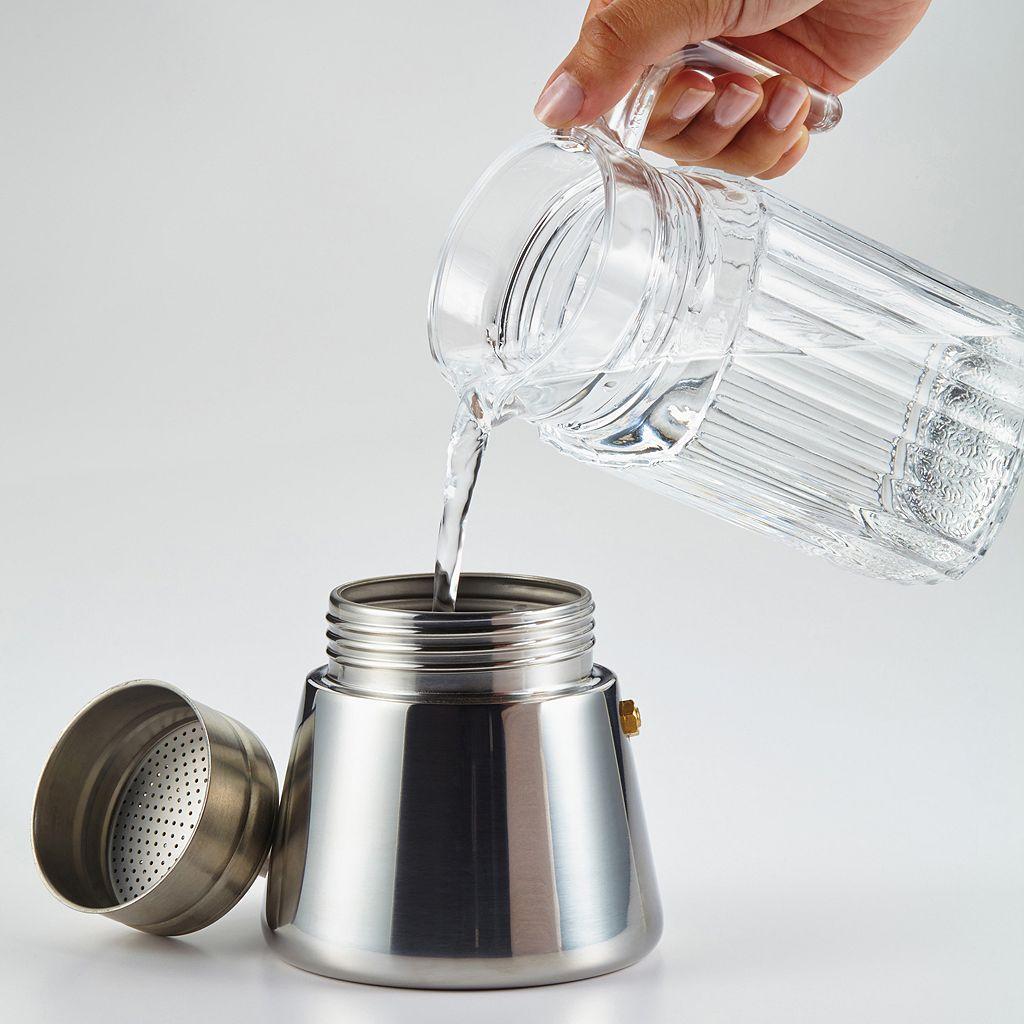 BonJour 3-pc. Stovetop Espresso Maker & Mug Set