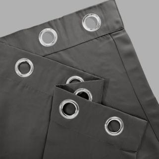 EFF Stone Grommet Doublewide Blackout Window Curtain