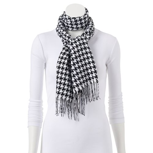 Softer Than Cashmere? Houndstooth Oblong Scarf