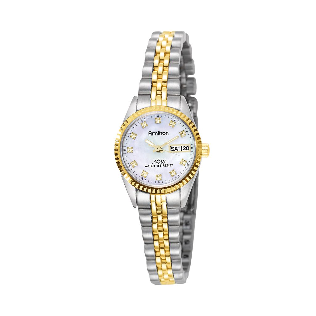 Armitron NOW Crystal Two Tone Watch - 75/2475MOP