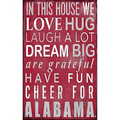 Alabama Crimson Tide In This House Wall Art