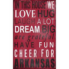 Arkansas Razorbacks In This House Wall Art