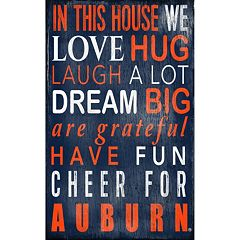 Auburn Tigers In This House Wall Art