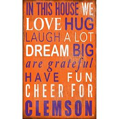 Clemson Tigers In This House Wall Art
