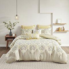 Madison Park Leah Comforter Set Orange Yellow Aqua