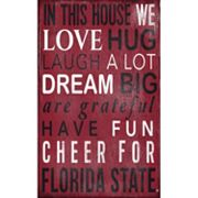 Florida State Seminoles In This House Wall Art