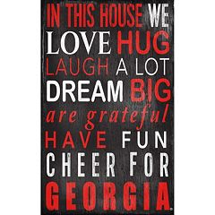 Georgia Bulldogs In This House Wall Art
