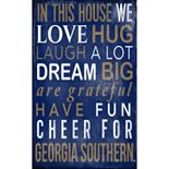 Georgia Southern Eagles In This House Wall Art