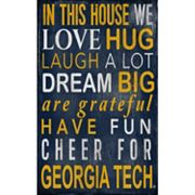 Georgia Tech Yellow Jackets In This House Wall Art