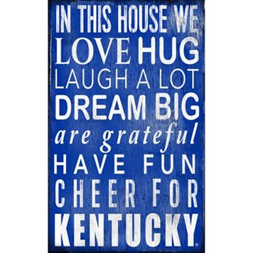 Kentucky Wildcats In This House Wall Art