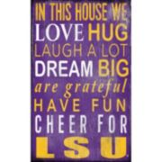 LSU Tigers In This House Wall Art