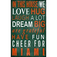 Miami Hurricanes In This House Wall Art