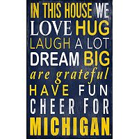 Michigan Wolverines In This House Wall Art