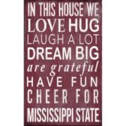 Mississippi State Bulldogs In This House Wall Art