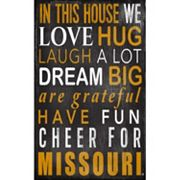 Missouri Tigers In This House Wall Art
