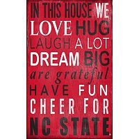 North Carolina State Wolfpack In This House Wall Art