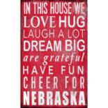 Nebraska Cornhuskers In This House Wall Art