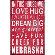 Nebraska Cornhuskers In This House Wall Art