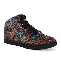 Gotta Flurt Hip Hop II Girls' Sequin Mid-Top Sneakers