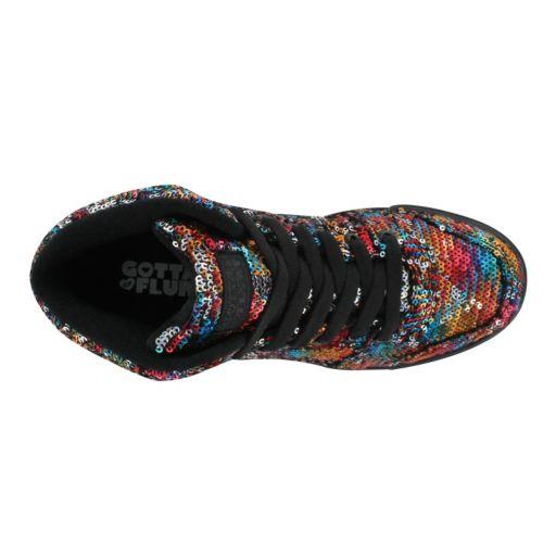 Gotta Flurt Hip Hop II Girls' Sequin Mid-Top Sneakers