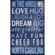 North Carolina Tar Heels In This House Wall Art