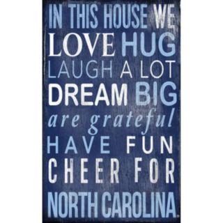 North Carolina Tar Heels In This House Wall Art