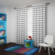 eclipse Thermaback Blackout 1-Panel Wavy Chevron Window Curtain