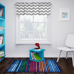 eclipse ThermaBack Wavy Chevron Blackout Window Valance